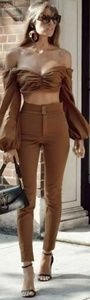 🆕️🍁🔥ZARA🔥🎻NWOT Sexy Brown High Waist Trouser